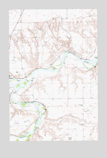 Loma East, MT USGS Topographic Map