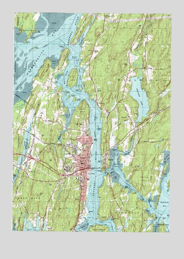 Bath ME Topographic Map TopoQuest - Topographical map of maine
