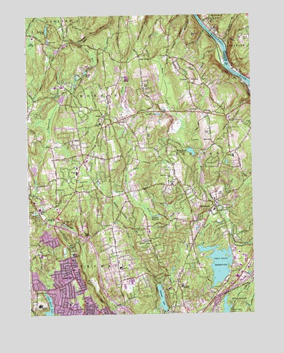 Long Hill, CT USGS Topographic Map