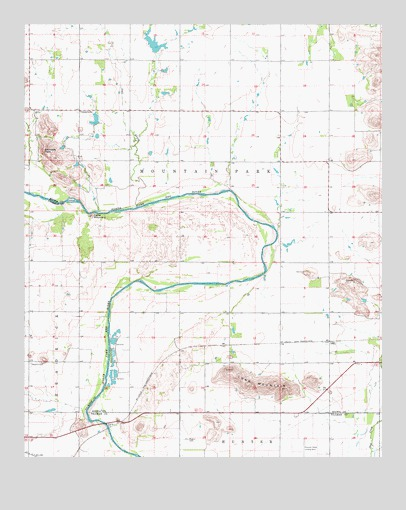 Long Mountain, OK USGS Topographic Map