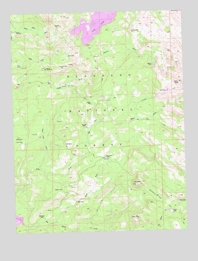 Loon Lake, CA USGS Topographic Map