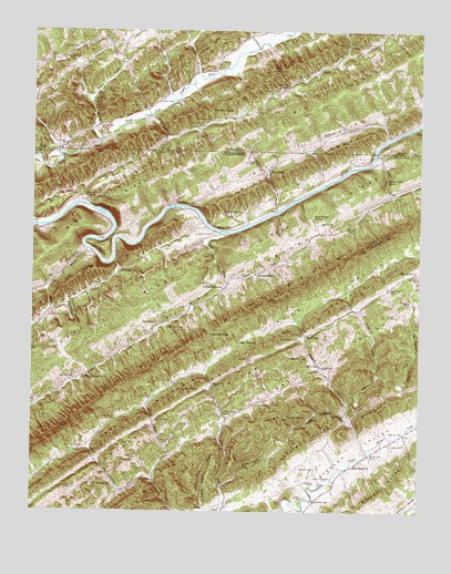 Looneys Gap, TN USGS Topographic Map