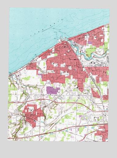 Lorain Oh Topographic Map Topoquest