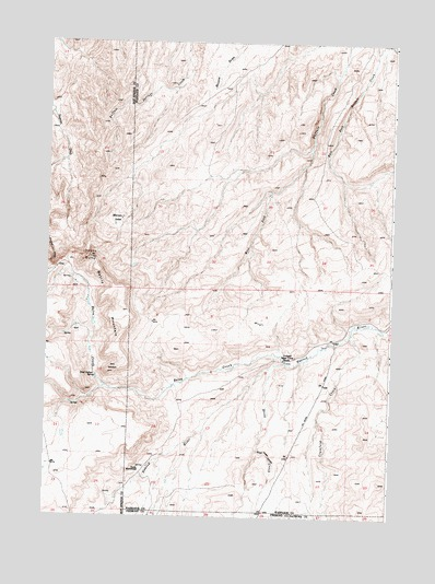 Battle Mountain, WY USGS Topographic Map