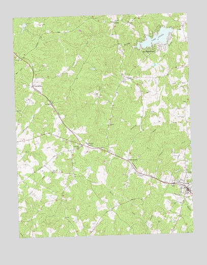 Louisa, VA USGS Topographic Map
