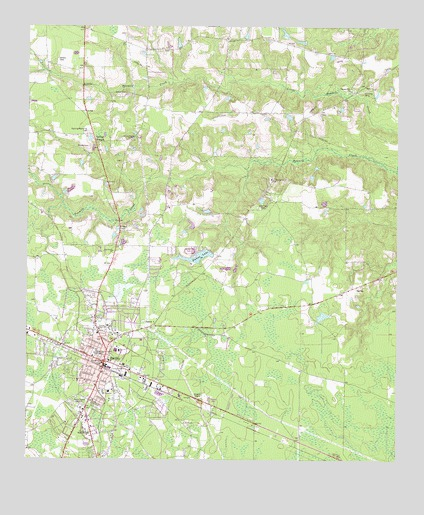 Baxley GA USGS Topographic Map