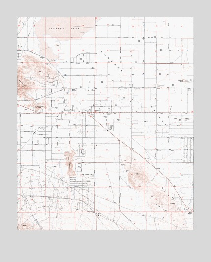 Lucerne Valley, CA USGS Topographic Map