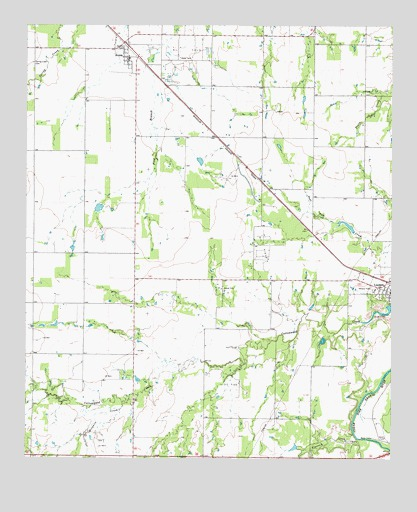 Lueders West, TX USGS Topographic Map
