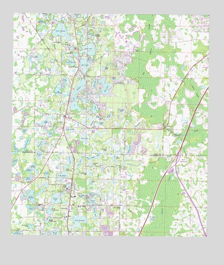Lutz, FL Topographic Map - TopoQuest