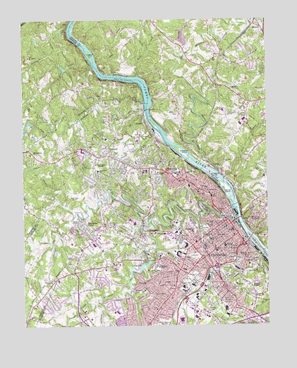 Lynchburg, VA Topographic Map - TopoQuest