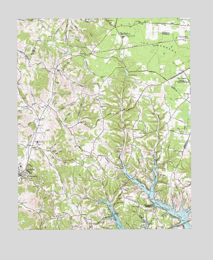 Lynchburg East TN Topographic Map TopoQuest - Map of east tn