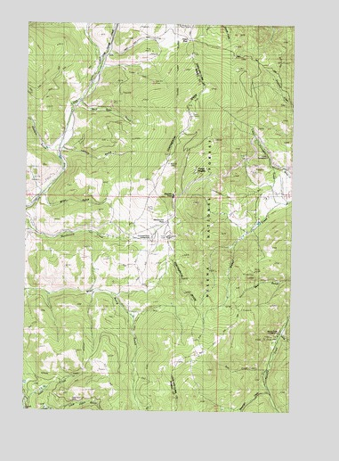 MacDonald Pass, MT USGS Topographic Map