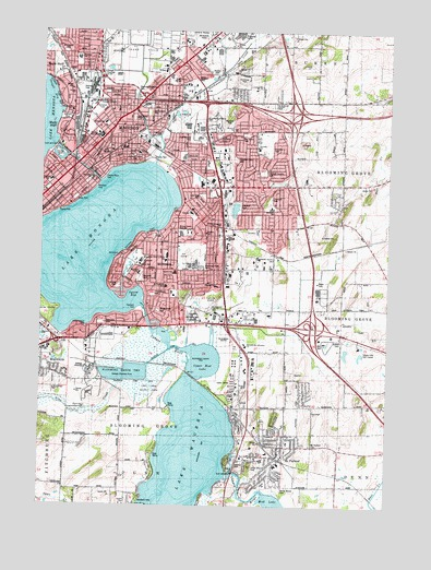 Madison East, WI Topographic Map - TopoQuest