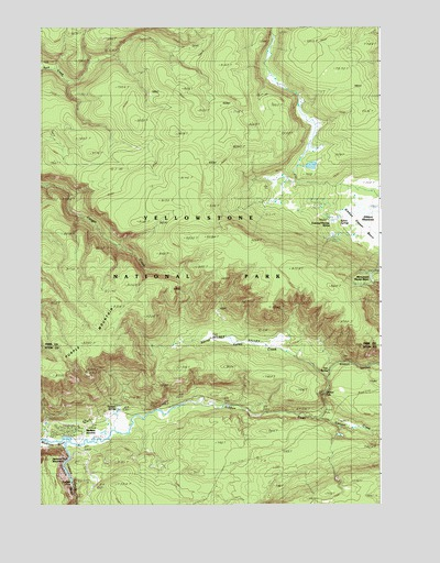 Madison Junction, WY USGS Topographic Map