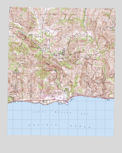 Map Of California Malibu.Malibu Beach Ca Topographic Map Topoquest
