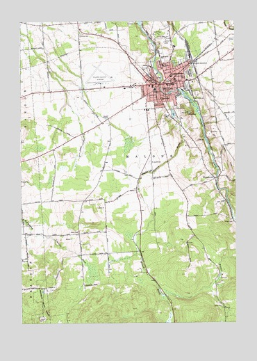 Malone, NY Topographic Map - TopoQuest