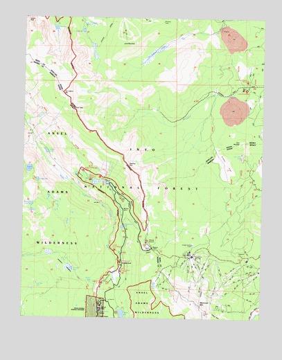 Mammoth Mountain California Map.Mammoth Mountain Ca Topographic Map Topoquest