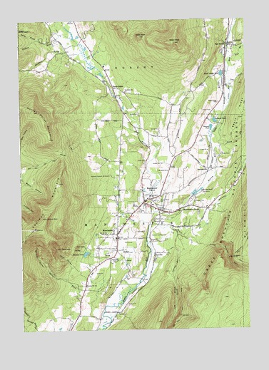 Manchester, VT Topographic Map - TopoQuest
