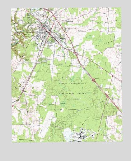 Manchester Tn Topographic Map Topoquest