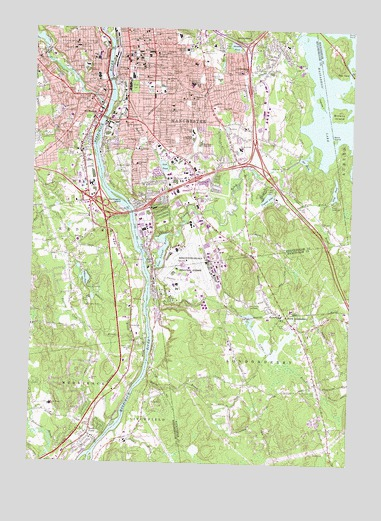 Manchester South, NH USGS Topographic Map