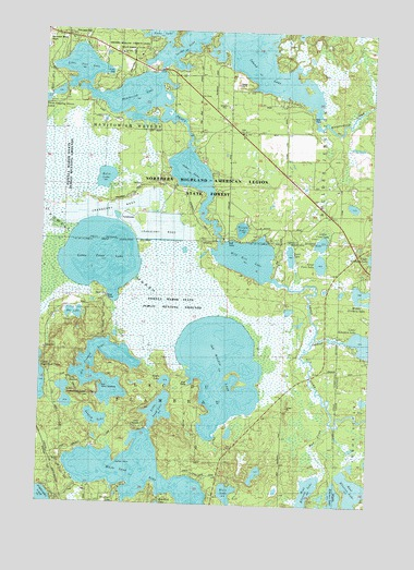 Manitowish Lake WI Topographic Map TopoQuest - Wisconsin topographic lake maps