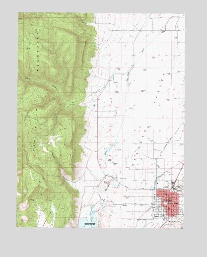 Manti Ut Topographic Map Topoquest