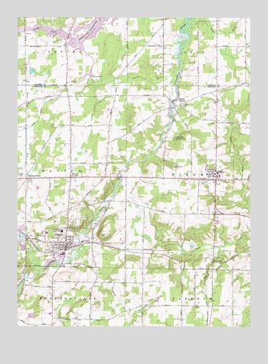 Mantua Oh Topographic Map Topoquest