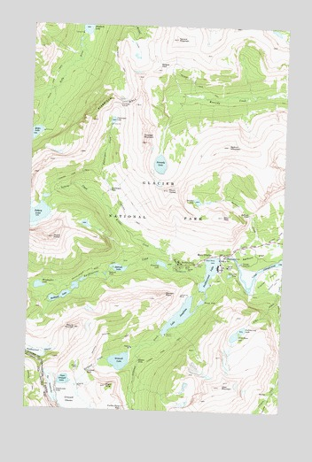 Many Glacier, MT USGS Topographic Map