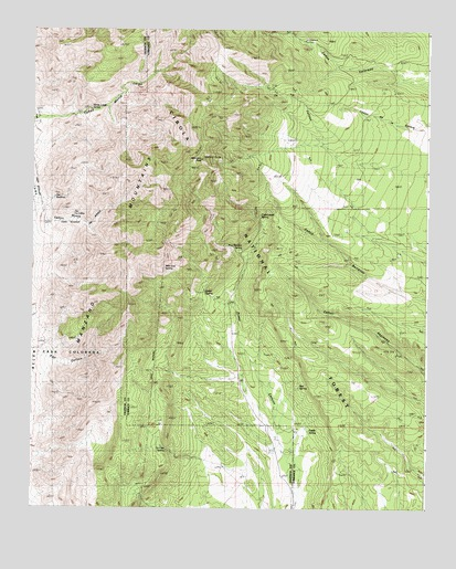 Manzano Peak, NM USGS Topographic Map