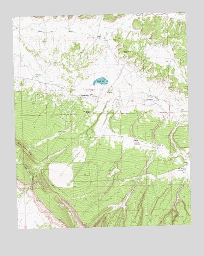 Mariano Lake, NM USGS Topographic Map
