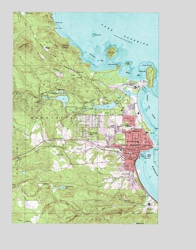 Marquette Mi Topographic Map Topoquest