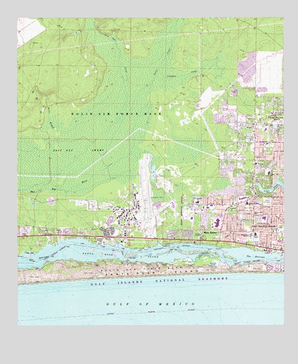 Mary Ester Florida Map.Mary Esther Fl Topographic Map Topoquest