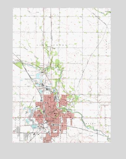 Mason City Iowa Map Mason City, IA Topographic Map   TopoQuest
