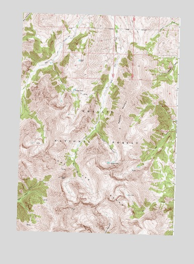 Massacre Mountain, ID USGS Topographic Map