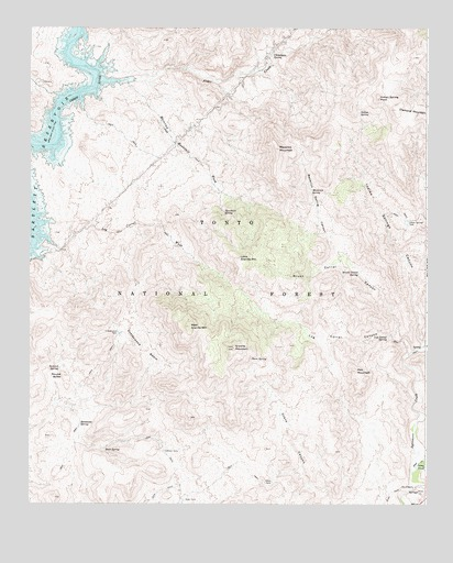 Maverick Mountain, AZ USGS Topographic Map