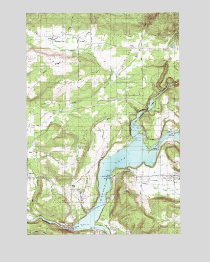Mayfield Lake, WA USGS Topographic Map