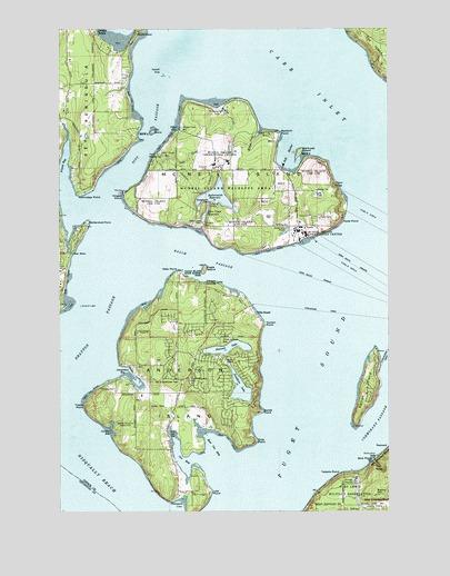 Mcneil Island Map McNeil Island, WA Topographic Map   TopoQuest