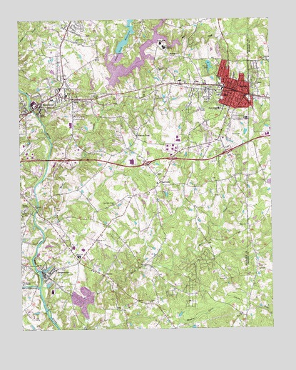 Mebane Nc Topographic Map Topoquest