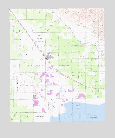 Mecca, CA Topographic Map - TopoQuest on