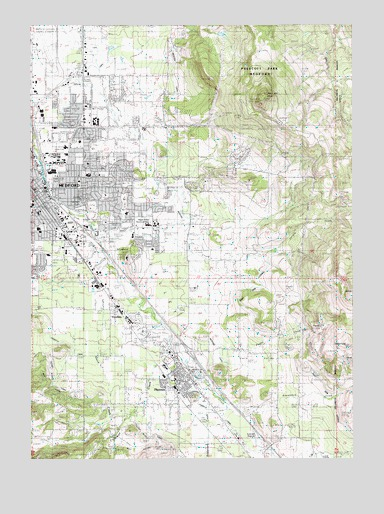 Medford East Or Topographic Map Topoquest