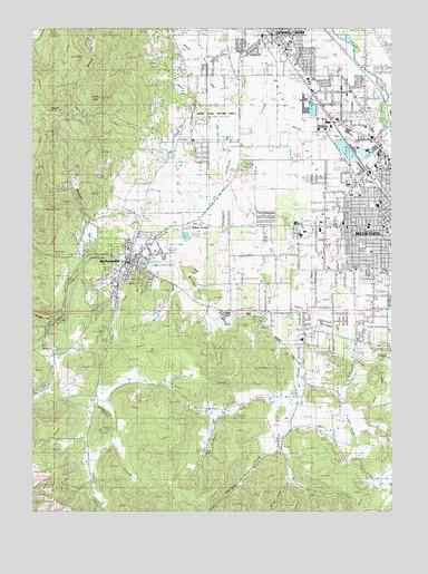 Medford West OR Topographic Map TopoQuest - Oregon topographic map