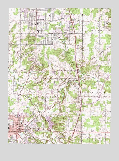 Topography Map Of Ohio.Medina Oh Topographic Map Topoquest