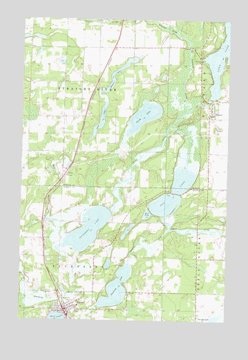 Menahga, MN Topographic Map - TopoQuest