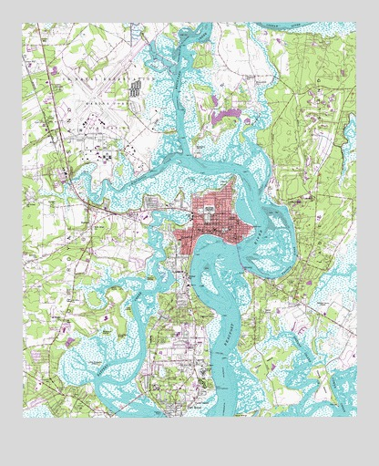 Beaufort Sc Topographic Map Topoquest
