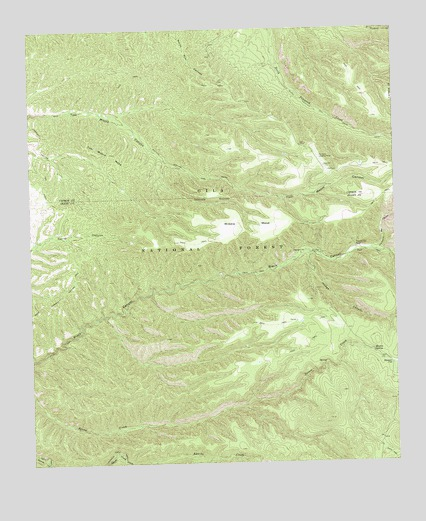 Middle Mesa, NM USGS Topographic Map