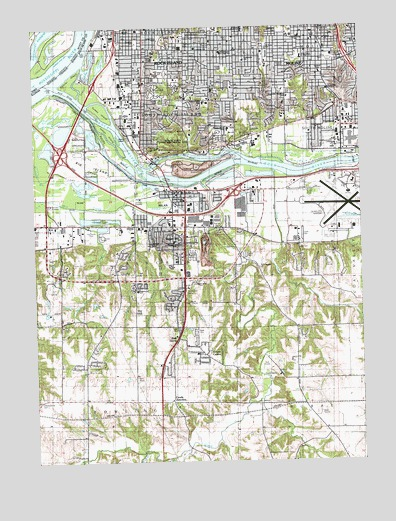 Milan, IL USGS Topographic Map