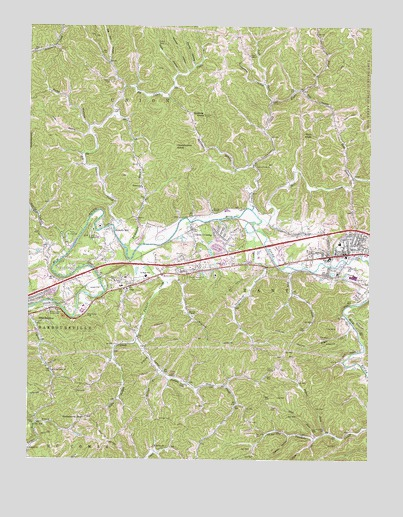 Milton, WV USGS Topographic Map