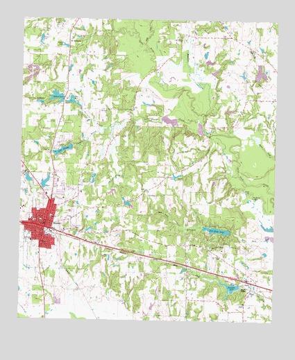 Mineola TX Topographic Map TopoQuest - Texas topographic map