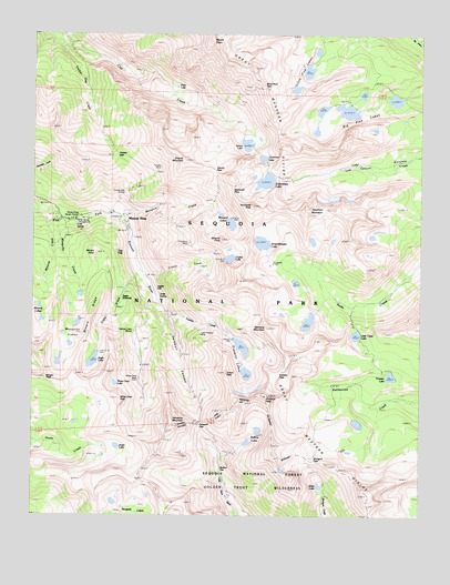 Mineral King, CA USGS Topographic Map