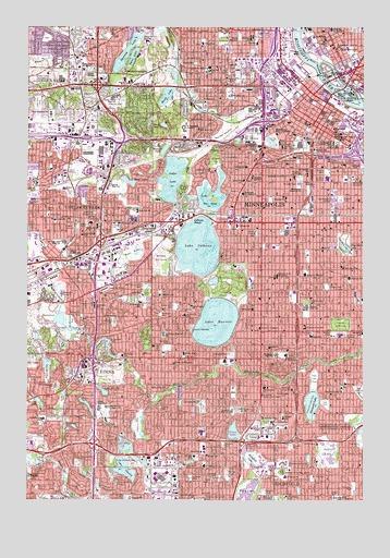 Minneapolis South, MN Topographic Map - TopoQuest